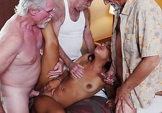 Teen Gangbanged by GrandpasHD