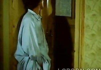 Brunette babe sneaks to pervs room to give goodnight handjob1-Scene-3