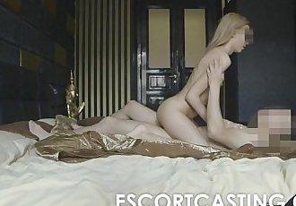Skinny Blonde Teen Escort Anal CastingHD