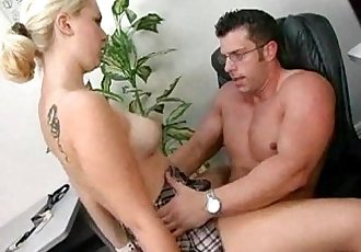 blonde exchange student getting her wet pussy fucked hard by her prof