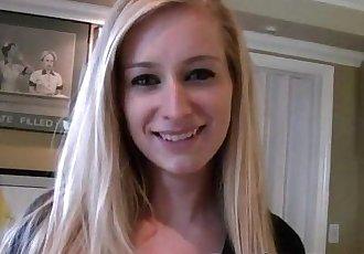 Innocent blonde schoolgirl gets fucked and facializedHD