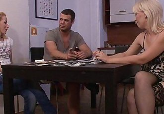 He leaves and mature lesbian seduces her - 6 min HD