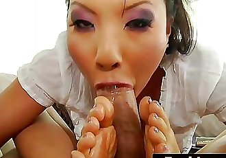 Exotic Japanese Teen Asa Akira Has Great Foot Job Skills 6 min HD