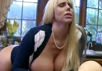 Molly Bennett caught her BF sucking off by a big tits MILF - 5 min