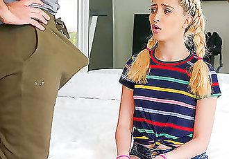 SPYFAM Kinky step daughter tastes big dick step dad