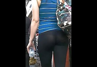 See thru leggings cute girl in street