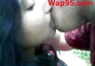 Indian college couple kiss outdoor - 49 sec