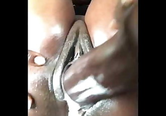 Meghan Wood - Nature & Nudity, Oiled Creamy Chocolate Pussy.
