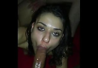 Tiny Teen sucking dick and getting dick