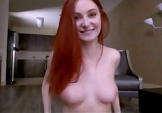 WOW Sexy Teen Redhead Step Daughter Lacy Lennon Proves To Her Step Dad She Is A Big Girl POV 8 min 720p