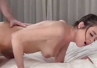 Tight coed Valarie teased before anal and creampie