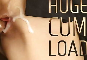 Close Up Pussy Fuck with Huge Cum Load