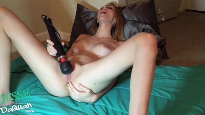 18yr old toys pussy with massive big toy