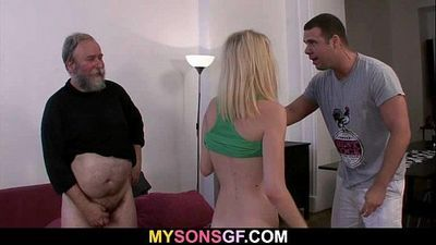 Dad punishes his son\