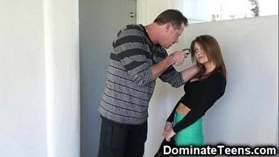 Stepdad Punishes and Fucks Defenseless Teen!