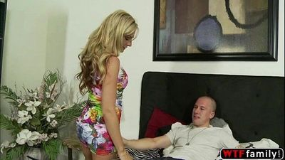 Super hot and horny MILF loves to suck and suck a young riders dick