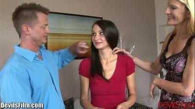 DevilsFilm Couple Threesome With BabysitterHD