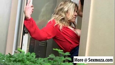 Drilling hot momma Cory Chase out the window Sexmoza.com
