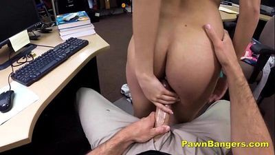 Sexy College Girl Blows And Bangs For Cash