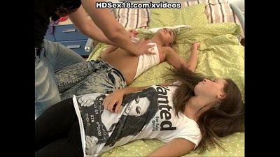 Two young girls fucking first time