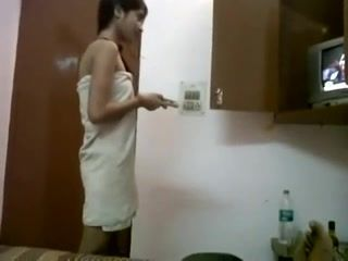 INDIAN - Cute Teen with Bf in Hostel