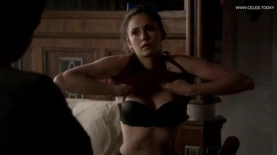 Nina Dobrev - Shower, Lingerie & Sexy Cleavage - The Vampire Diaries s04e16