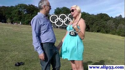 Young euro slut pleasing old man