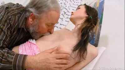 Jenya loves getting fucked by naughty old man