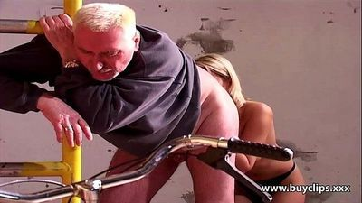 Younger blondes reluctant sex with olderHD
