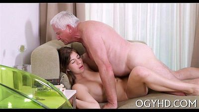 Juvenile cunt filled by old pecker