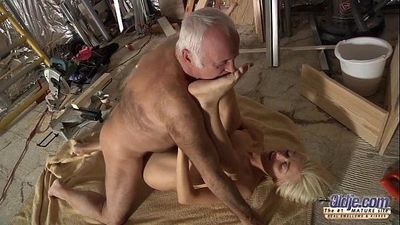Horny Assistent fucked by old man in old young porn cumshot facial blowjobHD