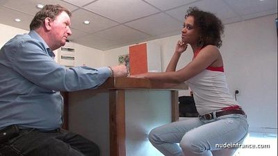 Black student deep anal fucked for her amateur french castingHD