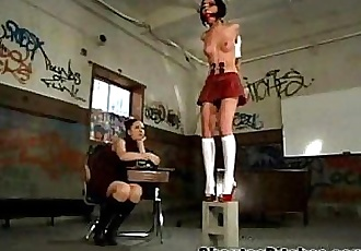 Schoolgirl Gets a BDSM Punishment! - 2 min