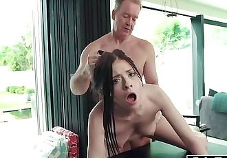 Hardcore Fuck For Teen Sucking cock swallows and Getting Fucked By Old Man