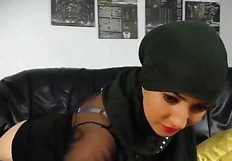 Hot muslim girl stripping n fingering hot round big ass - 2 min