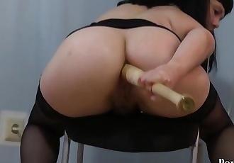 Natasha fucks her ass with a baseball bat