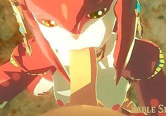 Mipha And Link SFM Legend of Zelda BOW by Servantesnc/SableServiette