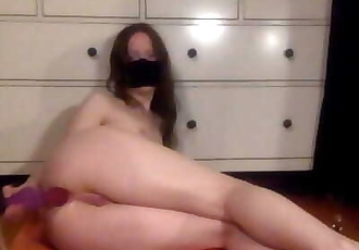 Trying to take a THICK Knot into my Tight Ass