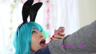 Bunny Bulma Easter Special - Cum Swallowing