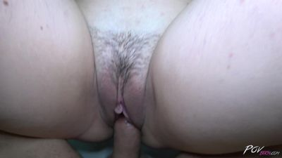 Povbitch - Dutch hairy pussy ride the cock as crazy till cum on her tits
