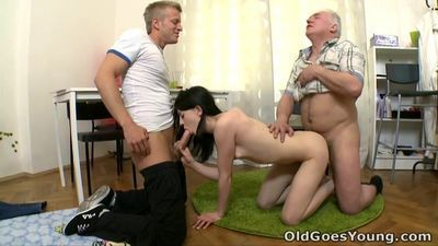 Old Goes Young - Olga thought she was faithful to her boyfriend