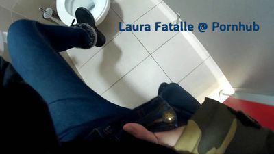 Step sister masturbating in public toilet dont tell daddy - Laura Fatalle