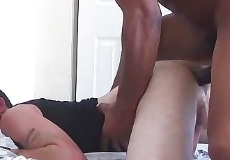 Angry Morning - WhiteBoy Wakes Up Mad To Suck & Get Bred By Big Black Cock