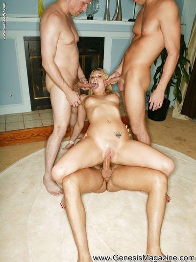 Saucy blonde vixens have some hardcore fun with four stiff pricks - part 2