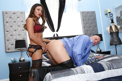 Astonishing model Mena Li is giving a good deep blowjob on the cam
