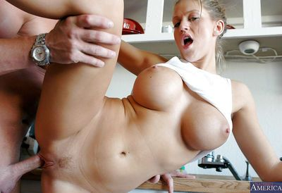 Huge tit slut with awesome body Eve is nailed in that stunning hole - part 2