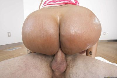 Latina Milf Kiara Mia has her small mouth pounded hard on camera - part 2