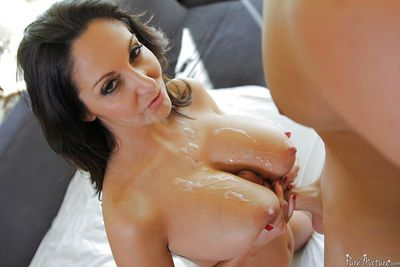 Mature Latina Ava Addams is sucking this horny prick and swallowing - part 2