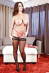 Busty wife Ava Addams takes selfies while dressing herself in lingerie & skirt - part 2