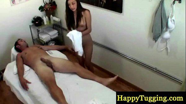 Asian masseuse tugging dong HD